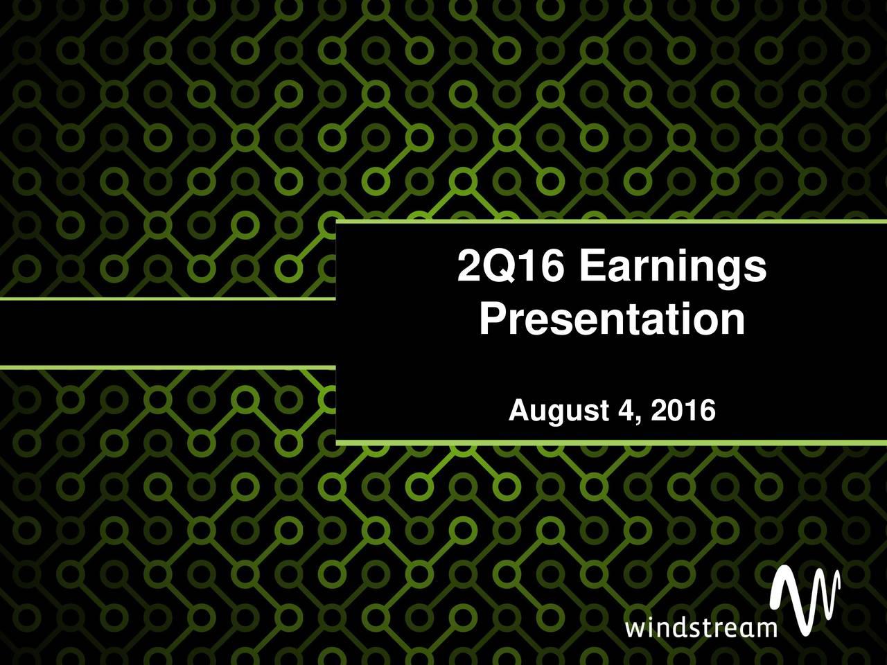 Presentation August 4, 2016