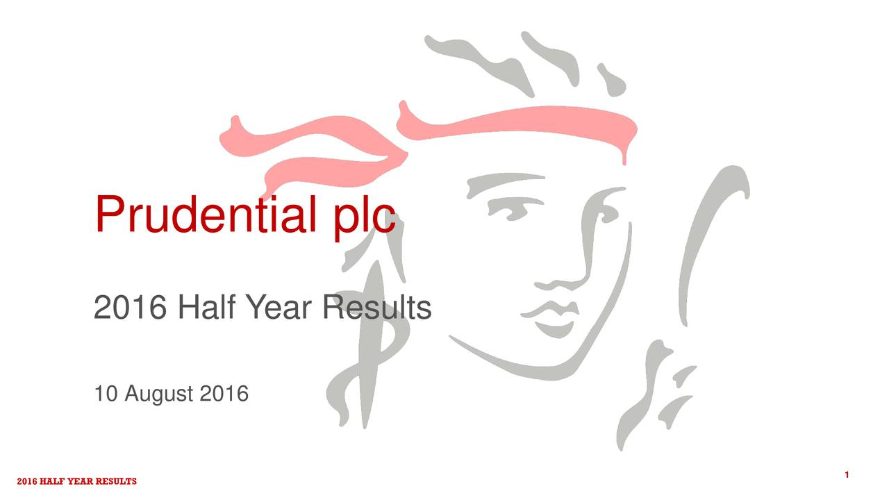 2016 Half Y ear Results 10 August 2016 2016 HALF YEAR RESULTS 1