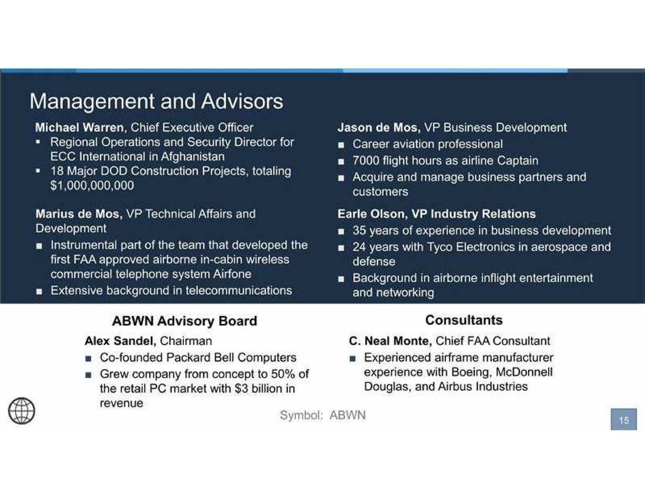 Airborne Wireless Network Stock >> Airborne Wireless Network (ABWN) Presents At 29th Annual ROTH Conference - Airborne Wireless ...