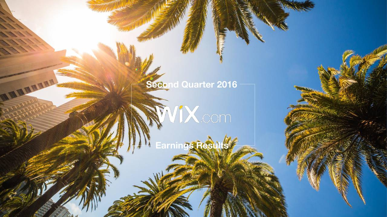 Second Quarter 2016 Earnings Results 1