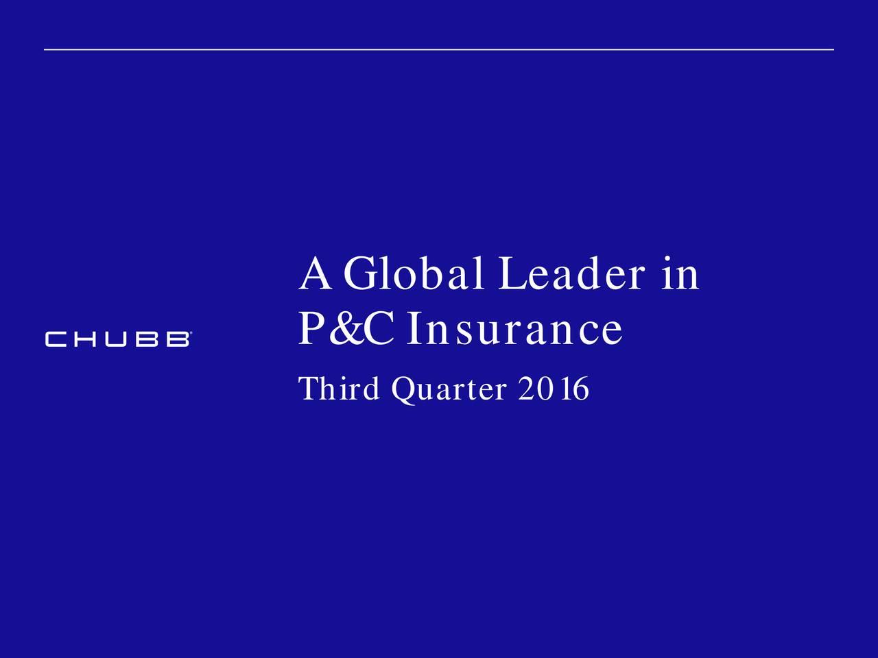 P&C Insurance Third Quarter 2016