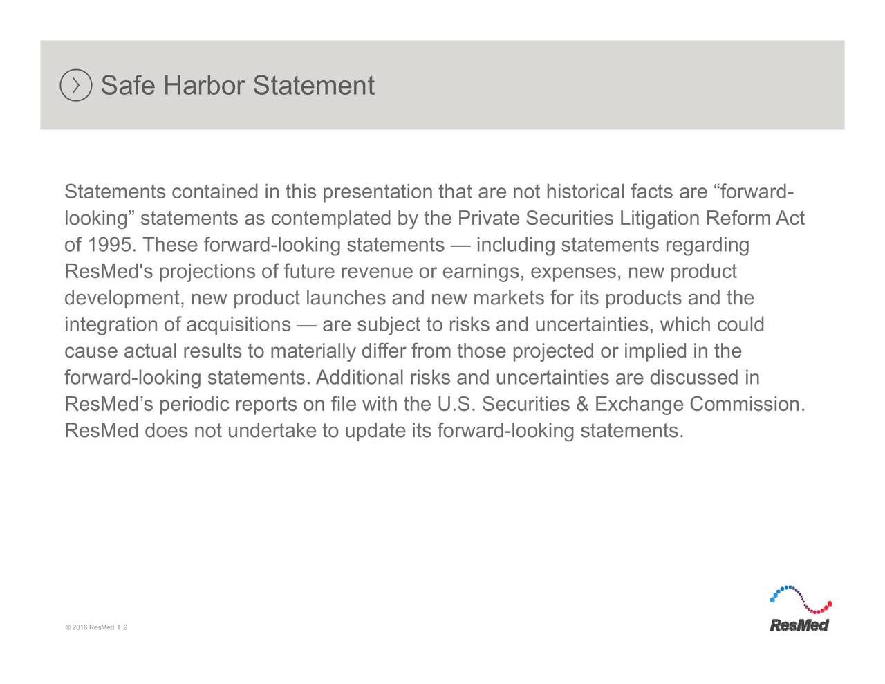 Safe Harbor Statement Statements contained in this presentation that.lrancclowuikeeatn