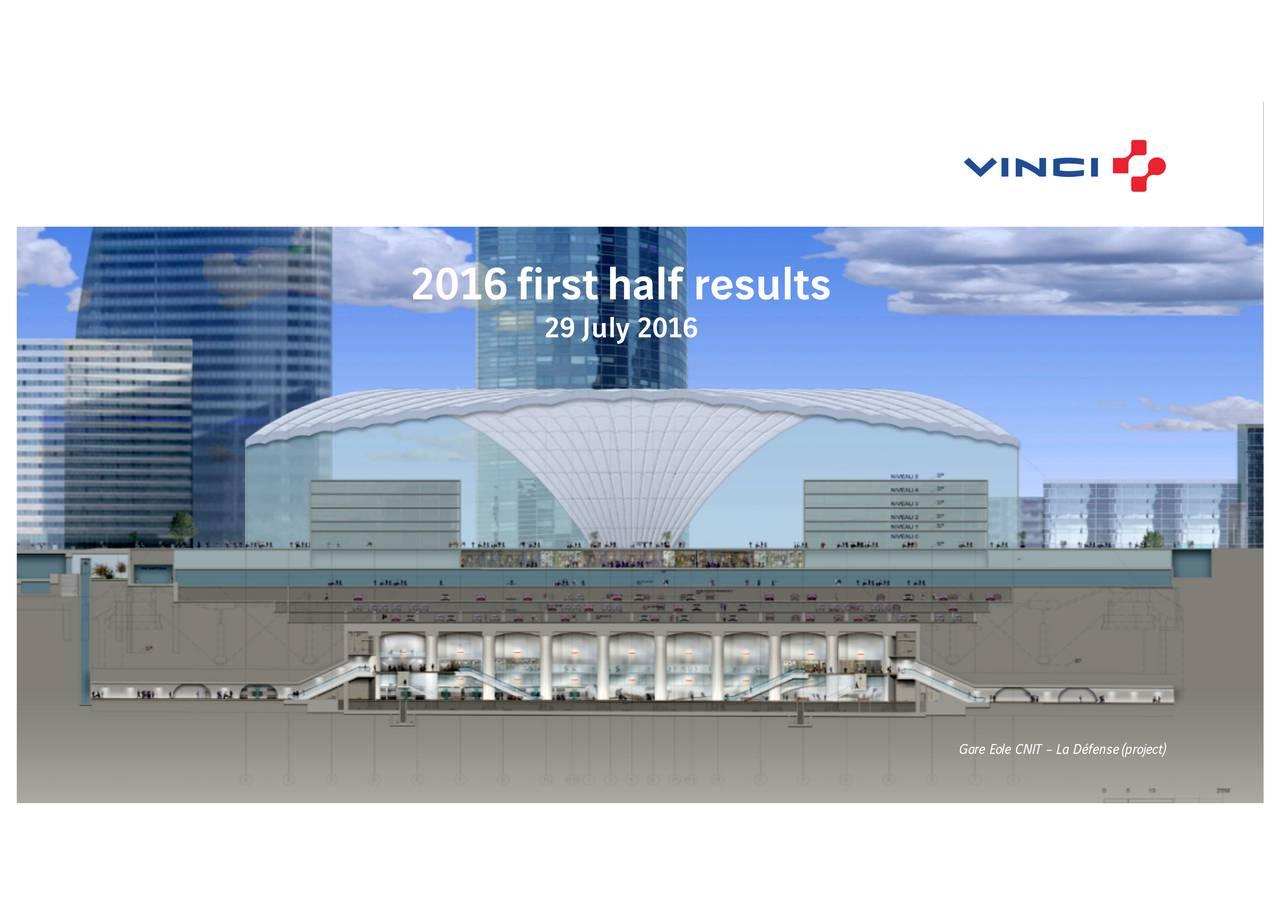 29 July 2016 Gare Eole CNIT  La Dfense(project )