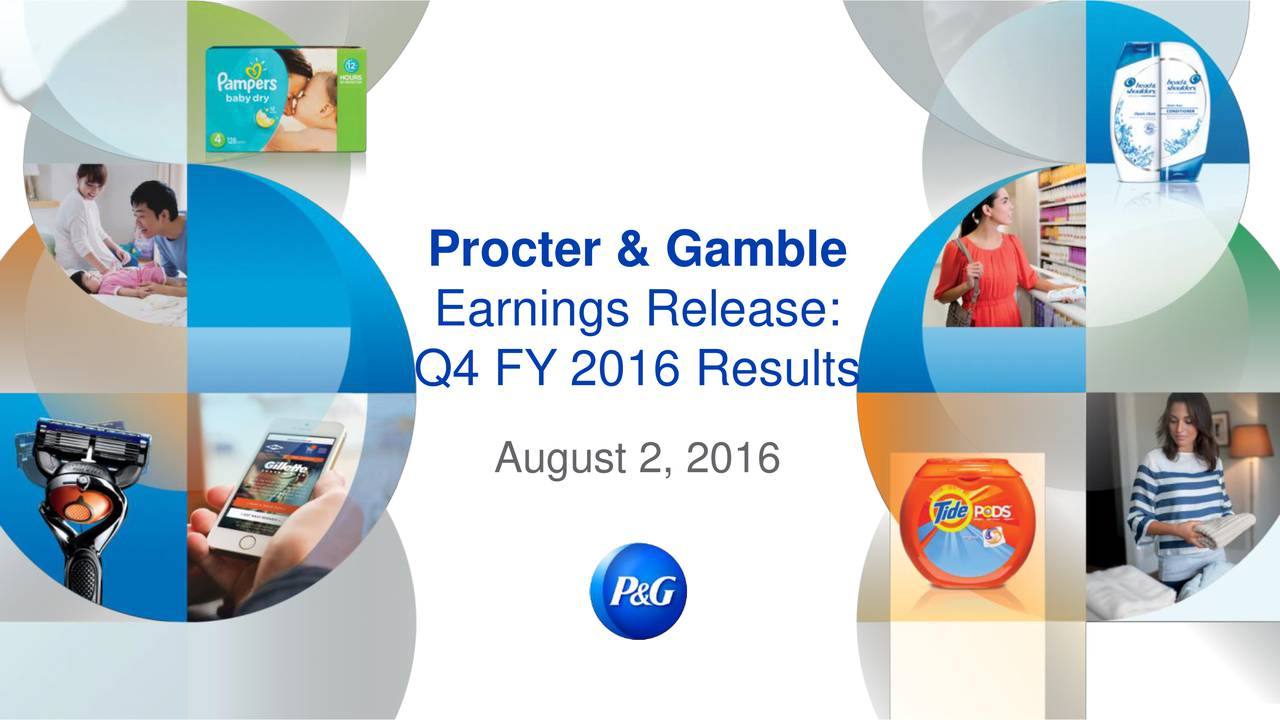 Earnings Release: Q4 FY 2016 Results August 2, 2016