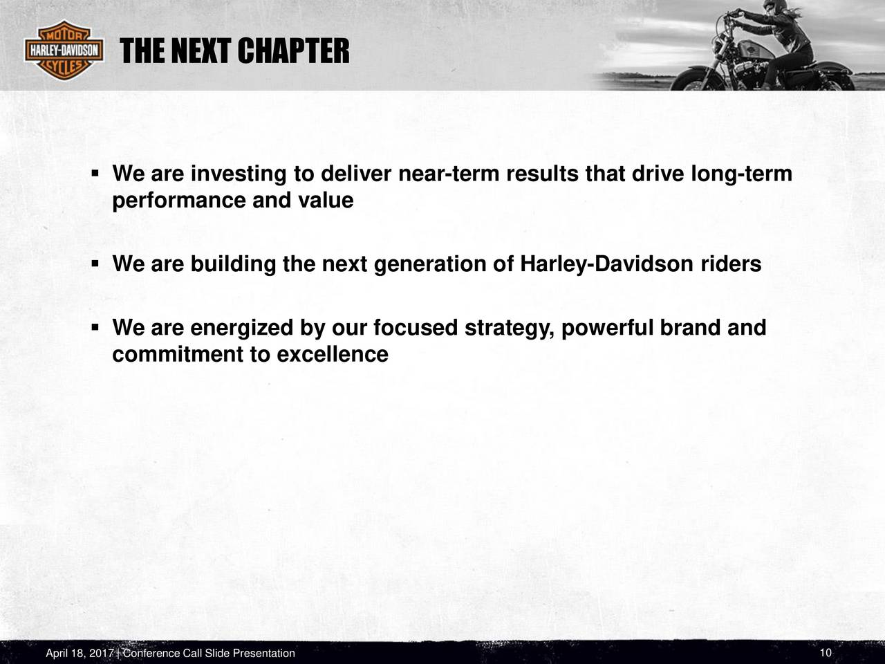 harley davidson brand building through consumer engagement Harley-davidson has been extremely good at customer engagement, constructing brand loyalty, and building a brand community the company regularly organizes and sponsors communal bike rallies, donation drives, and other social events.